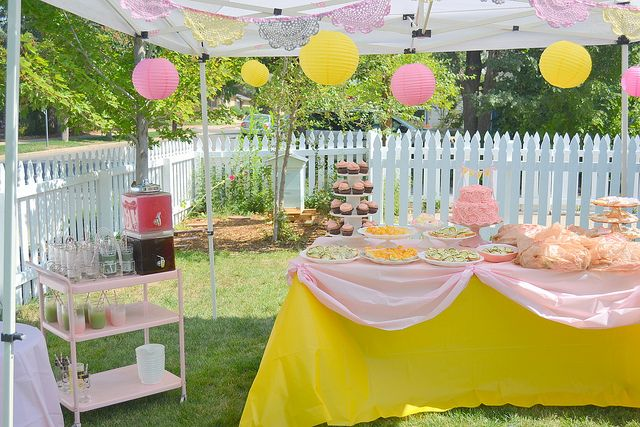 Baby Shower party in Tent