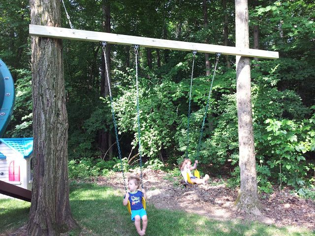 Hang A Swing From A Tree Without Branches