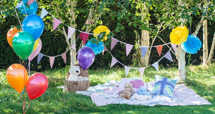 baby shower party at park
