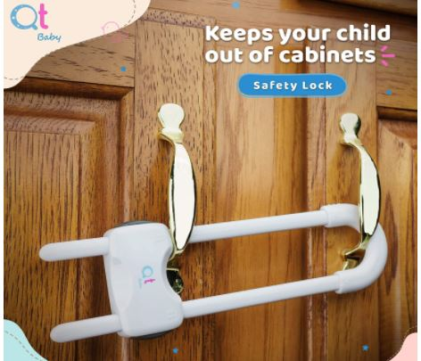 Qt Baby proofing cabinet lock