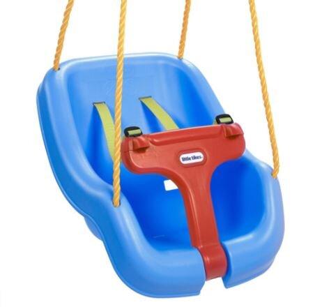 Blue Little Tikes 2 in 1 outdoor baby swing
