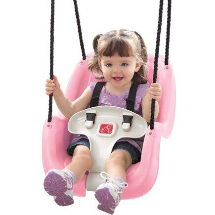 Baby swinging on the Step2 Infant to Toddler swing