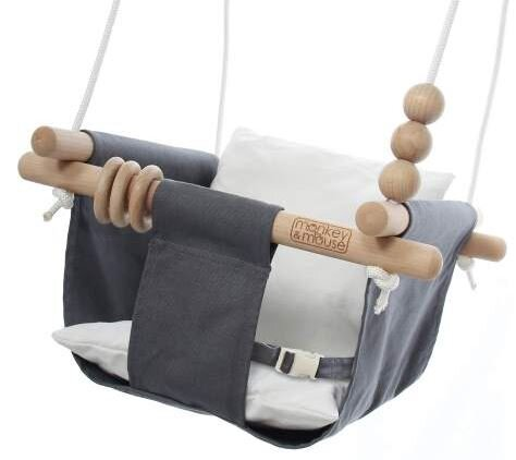 Monkey & Mouse Secure Canvas outdoor swing for baby
