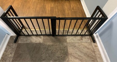 a Baby gate for baby and pet proofing