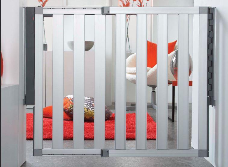 The Munchkin Loft aluminum baby door