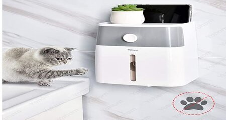 child/ pet proof toilet paper dispenser