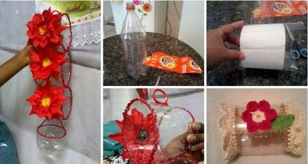 making toilet paper cover/protector by recycling a plastic 2-liter soda pop bottle